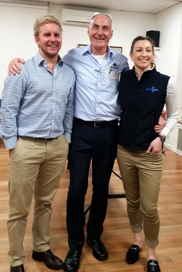 David Gray with Alan White and Kate Williams at Prostate Cancer and You event in Hampton